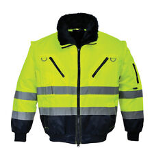 High Visibility 3in1 Pilot Safety Jacket HiVis Work ANSI S-4XL, Portwest UPJ50
