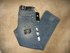 """Mens Rock & Republic Blue Jeans Relaxed Straight Leg Ultra Comfort """"Soldier"""" NWT"""