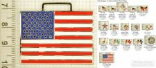 US (American) flag decorative fobs, various designs & keychain options