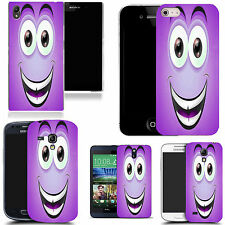 gel rubber case cover for  Mobile phones - purple smiley character silicone