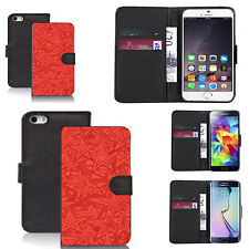 black pu leather wallet case cover for many Mobile phones - design ref zx0741