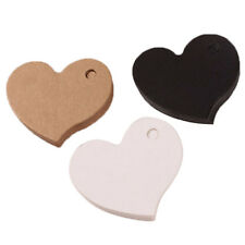 Paper Kraft Wedding Heart Party Craft Cards 50Pcs Favors Supplies Decorations