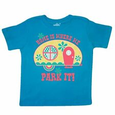 Inktastic Home Is Where We Park It Toddler T-Shirt Motor Retro Trailer Hitch Fun