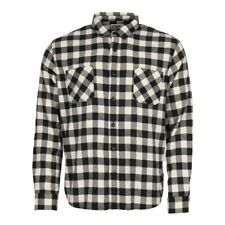 New Mens Edwin  Labour Shirt - Off White/Black  Long sleeve  Collared