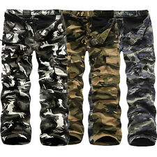 Hot Military Men's Cotton Cargo Pants Combat Camouflage Camo Army Long Trousers