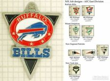 NFL team logo decorative fobs (AFC East), various designs & keychain options