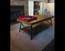 Wooden Coffee Table Rectangular Rustic Look Cocktail Living Room Home Furniture