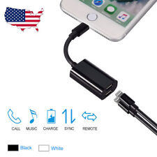 Lighting For iPhone 7 8 Plus Dual Audio Headphone Adapter Charger Splitter Cable