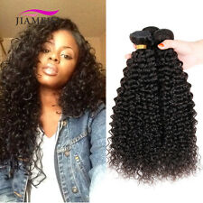 100% Real Brazilian Virgin Kinky Curly Remy Human Hair Weave 100g Natural Black
