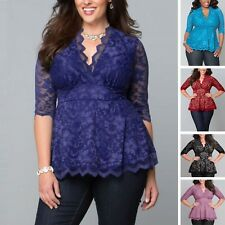 Women 5x Tops 4x xl Clothing Top Plus Size Womens Shirt Sleeve Blouse 3x Tunic