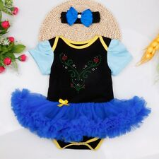 Christmas Newborn Baby Infant Girls Outfit Clothes Romper + Headband Fancy Dress