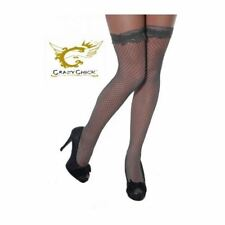 Lovely Fish Black Top Net Lace High Ladies Thigh Stockings Socks Accessory