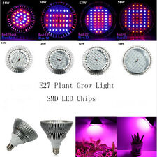 24W E27 Full Spectrum LED Plant Grow Lights Bulbs Veg Hydroponics LED Grow Lamps