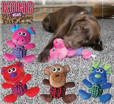 Kong Weave Knots - Strong Rope Knotted Dog Puppy Toy - Squeaks And Cleans Teeth