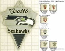 NFL team logo decorative fobs (NFC West), various designs & keychain options