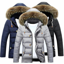 Fashion Mens Warm Down Jacket Winter Thick Hooded Padded Coat Parka Overcoat