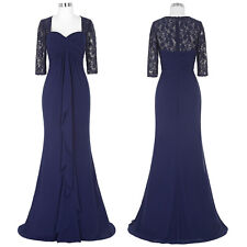 Hot~Lace Mother of the Bride Formal Cocktail Evening Party Wedding Prom Dress ♡