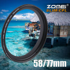 Zomei Adjustable Variable Neutral Density Filter Fader ND2-ND400 58/77mm AUSTOCK