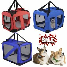 Folding Pet Dog Cat Carrier Bag Travel Kennel Crate Cage Bag Fabric 2 Colour