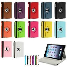 New Apple iPad Mini  360 Rotating PU Leather Case Smart Stand with Stylus Pen