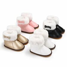 Infant Toddler Baby Girls Boots Boys Girls Winter Thick Snow Boots Leather Shoes