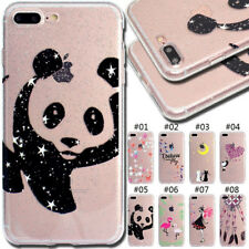 For iPhone X SE 5S 6S 7 8 Plus Glitter Case Rubber TPU Silicone Soft Cover Back