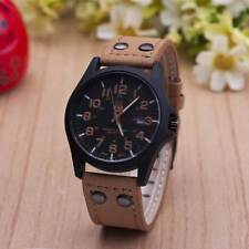 Genuine Leather Belt Dress Watch Sports Military Casual Mens Outdoor Wristwatch
