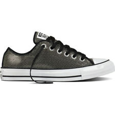 Converse Chuck Taylor All Star Sequin Ox Gunmetal Textile Trainers