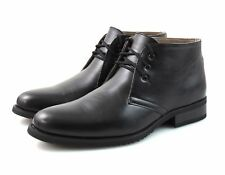 Mens Black Chukka Desert Boots Faux Leather Ankle Winter Lace Up 6 7 8 9 10 11