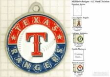 MLB team logo decorative fobs (AL West), various designs & keychain options