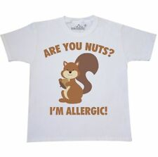 Inktastic Are You Nuts? I'm Allergic! Youth T-Shirt Squirrel Nuts Allergy Food