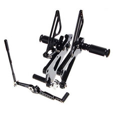 CNC Billet Adjustable Rearsets Rear Sets Footpegs for Yamaha YZF R6 06-17 16 15