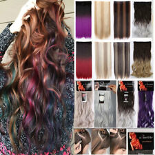 """US17-30"""" Long Natural Clip In Hair Extensions 3/4 Full Head 5 Clips on Big Wavy"""