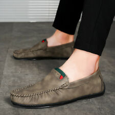 Mens Non-Slip Moccasins Driving Shoes Casual Loafer  Leisure Comfy Leather FE9