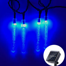 Solar String Lights, 33ft 100 LED Crystal Icicle Lights, Outdoor Decorative