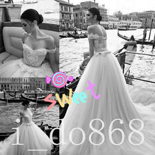 Beach Pretty Off Shoulder Long A-line Wedding Dresses Tulle with Lace 2018 New