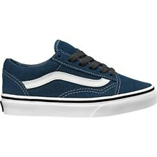 Vans UY Old Skool Dress Blue Suede Youth Trainers Shoes