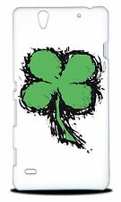 LUCKY FOUR LEAF CLOVER HARD CASE COVER FOR SONY XPERIA C4