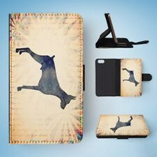 DOG WATERCOLOR ART  FLIP WALLET CASE COVER FOR IPHONE 5 / 5S / 5SE