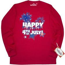 Inktastic Happy 4th Of July Long Sleeve T-Shirt Independence Day Fireworks Stars