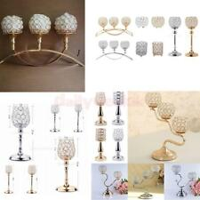 Crystal Candle Holder Wedding Banquet Candlestick Table Decorative Centerpiece