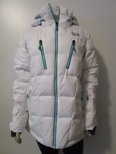 NWT Womens M Mountain Hardwear Downhill 700-Down Hooded Ski Parka Jacket White