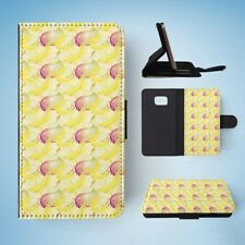 MANGO BANANA FRUIT PATTERN FLIP WALLET CASE COVER FOR SAMSUNG GALAXY S7
