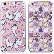 Ultra-thin transparent Soft TPU Back Bumper Case Cover Skins for Phones Animals