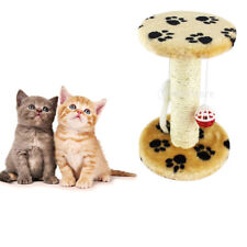 Sisal Cat Kitten Scratching Board Climber Cyclinder House with Catnip Pet Toy