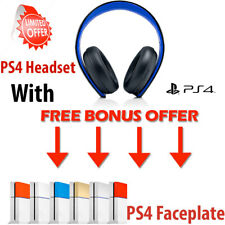 Genuine Sony PlayStation Wireless Stereo Headset PS4 PS3 PS Vita Faceplate