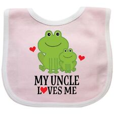 Inktastic My Uncle Loves Me Frog Baby Bib Nephew Niece Gift Childs Cute From Hws