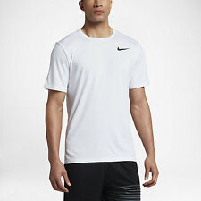 Nike BREATHE MENS SHORT-SLEEVE TRAINING TOP, WHITE/BLACK - Size S, M, L Or XL