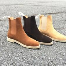 Mens Pull On Outdoor High Top Chelsea Roma Casual Suede Ankle Boot Shoe Oxford