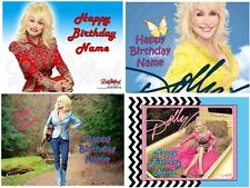 EDIBLE CAKE IMAGE DOLLY PARTON ICING SUGAR PHOTO SHEET PARTY TOPPER DECORATIONS
